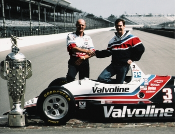 Alan Mertens and Al Unser, Jr. at Indy